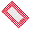 Cookability Jam Pot Labels Self Adhesive Red Gingham