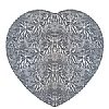 Cookability Silver Thin Cake Drum Heart