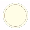 Melamine Tablemat Round Cream