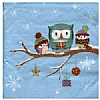Cookability Xmas Napkins: Owls in Snow