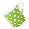 Fine Bone China Green Polka Dot Mug