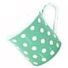Fine Bone China Pastel Green Polka Dot Mug