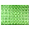 Woven Tablemat Apple Green 22mm weave.